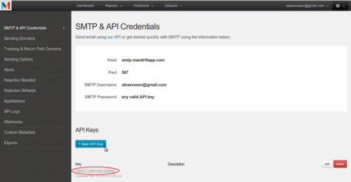 Create API_KEY step 3