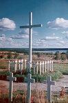 1940-01-01 Пишет герой кладбище. На фоне Suistamojrvi. Место: Суйстамо