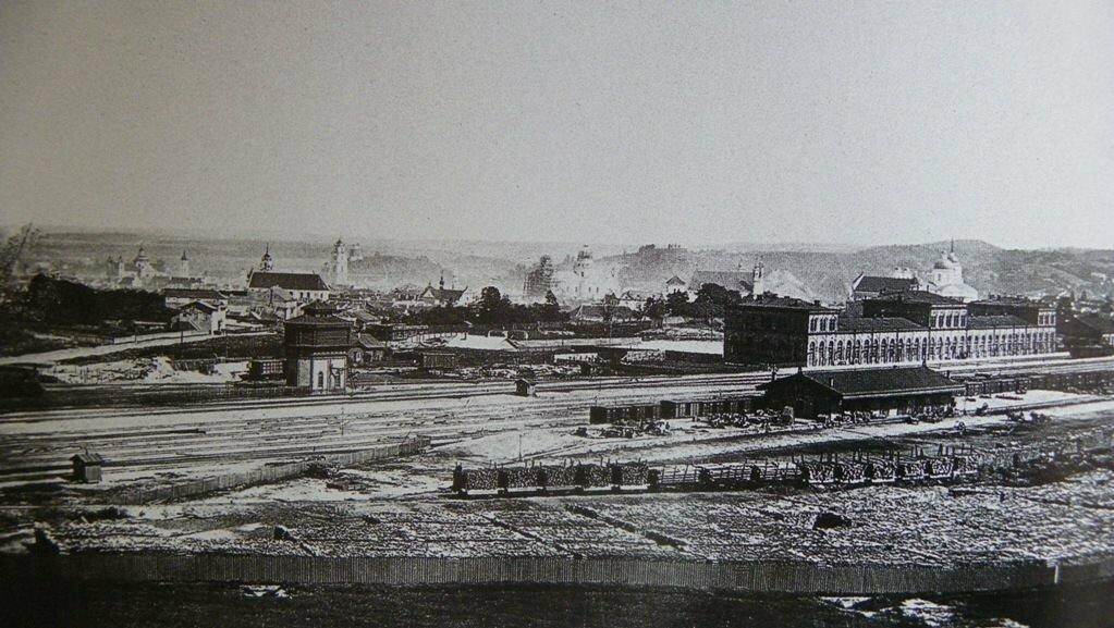 Железнодорожная станция.1865