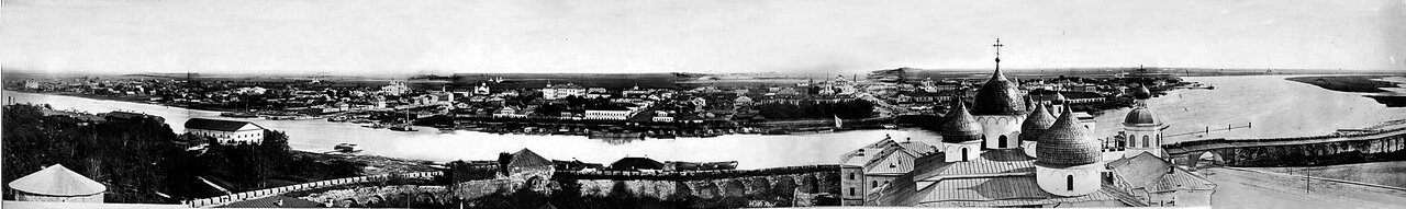 Панорама с видом на Торговую сторону. 1862