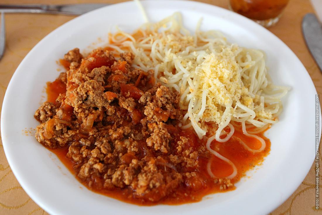 Спагетти «Болоньезе» с фаршем