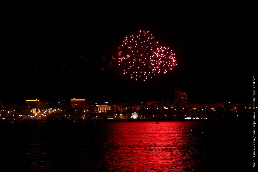 День Победы в Волгограде фейерверк на набережной