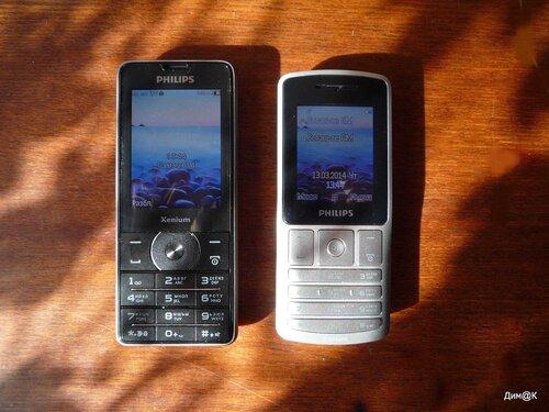 Philips Xenium X1560 и X130 (размеры)