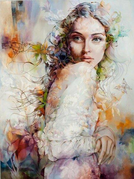 Я образ твой цветами нарисую... Китайская художница Wendy Ng