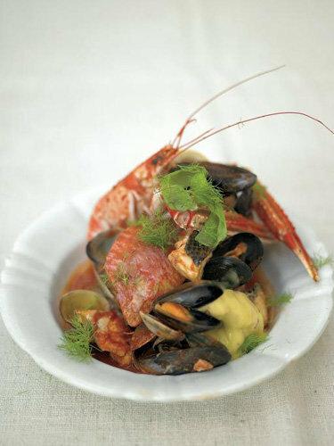 Пасхальные рецепты. Тушеная рыба и морепродукты