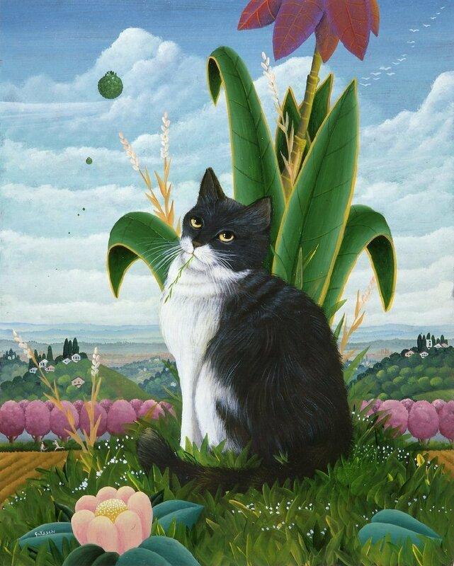 О чём думают кошки? Художник Lucio Gatteschi