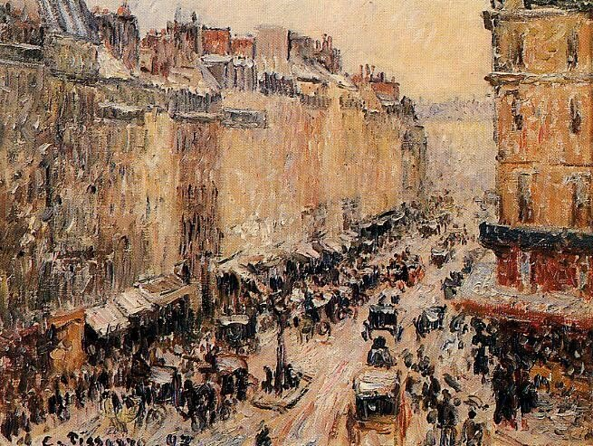 Pissarro_Camille_Rue_saint_lazare_under_snow_1897