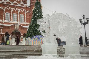 Православный фестиваль ледяных скульптур в Ижевске, январь 2016 г.
