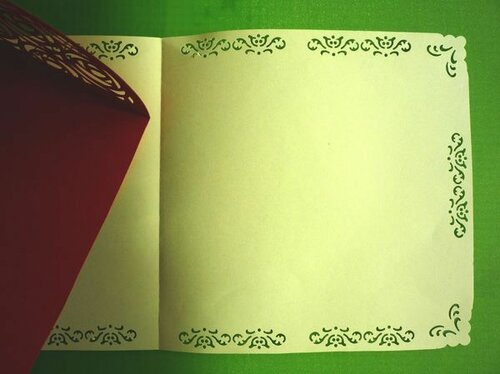 Контурная открытка Ажурные ворота в розах. Мастер-класс