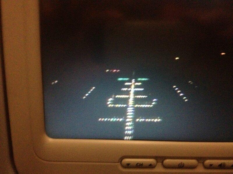 Посадка, перелет Москва-Пекин