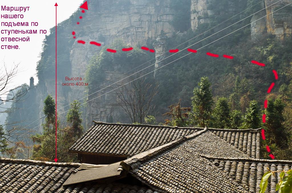 Фото 20. Как добраться к смотровой площадке One Step to the Heaven (Один шаг до неба) в заповеднике Чжанцзяцзе. Советы туристам, собирающимся в Китай.