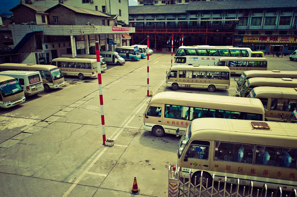 Фото 9. Так выглядит автостанция в деревне Юлинъюань (Wulingyuan) в Китае. Рассказ о том, как мы добирались из Чжанцзяцзе в город Фэнхуан