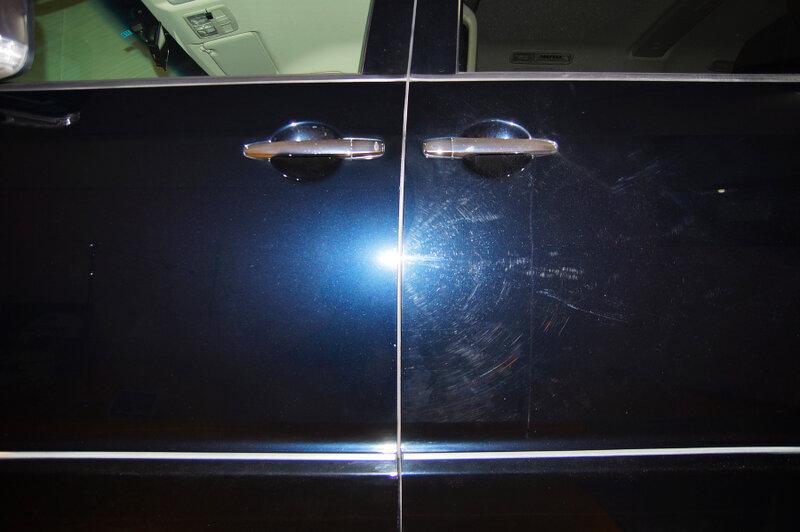 Нанести жидкое стекло на машину