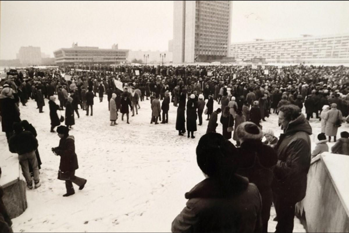 1990. Первая забастовка на заводе «Ангстрем» в Зеленограде 14.02.