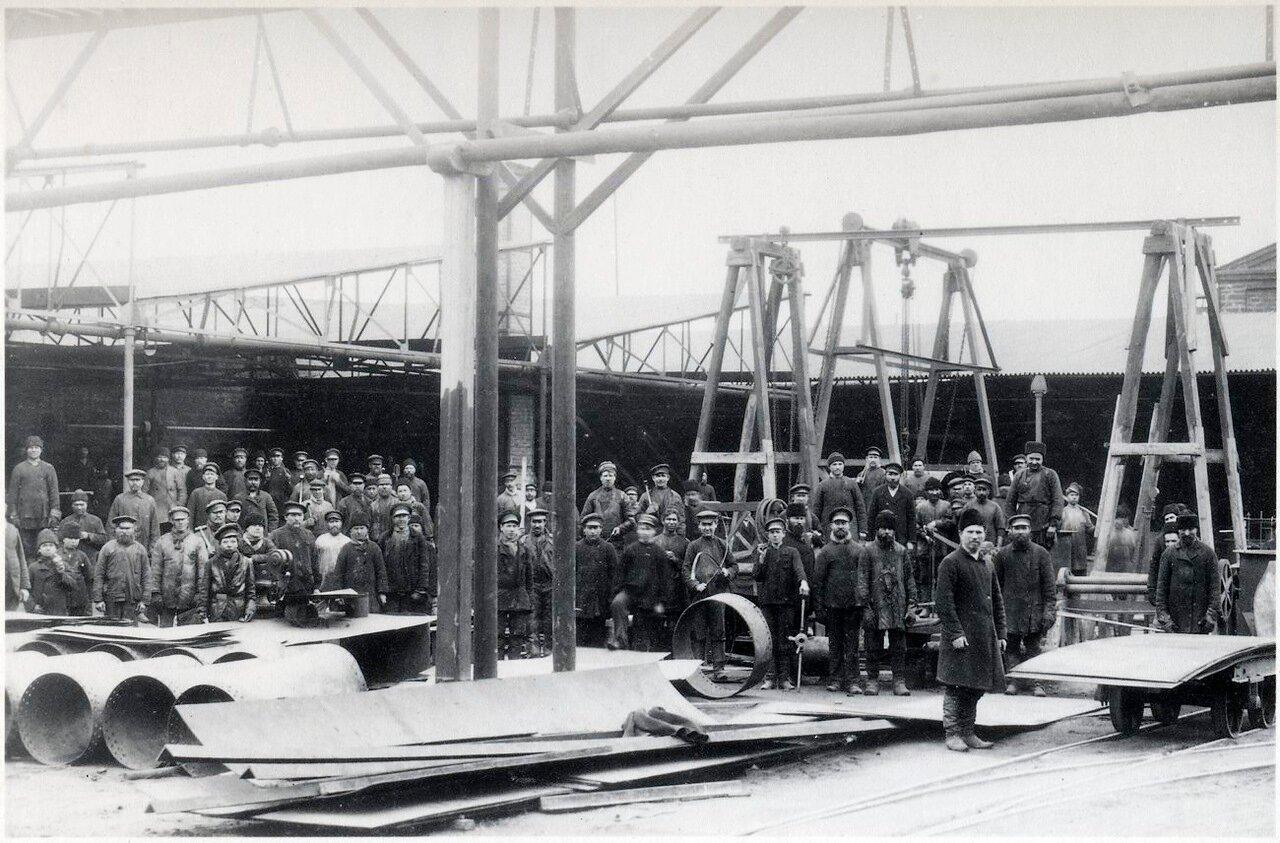 Механическая мастерская на нефтяном заводе Нобеля в Баку