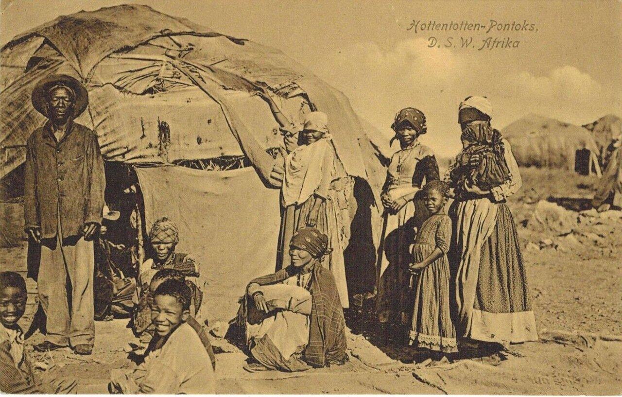 1910. Готтентоты немецкой Юго-Западной Африки