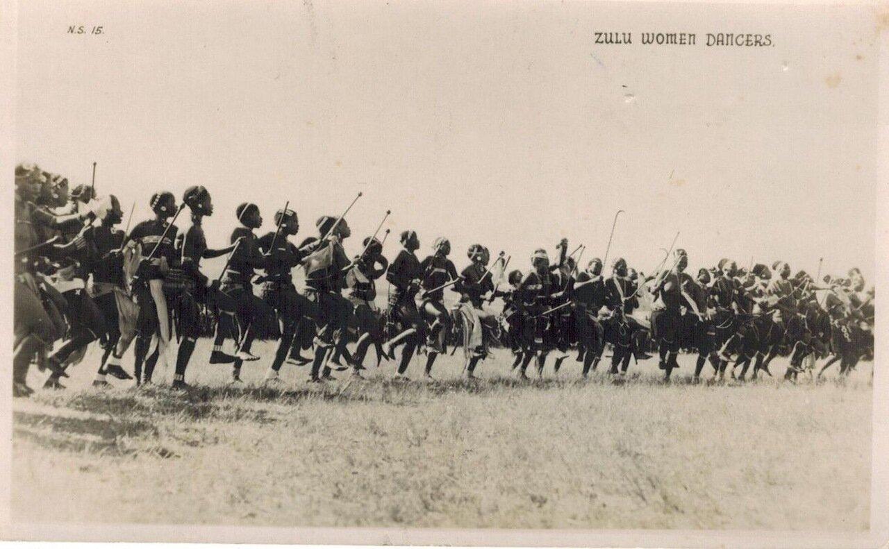 1920. Женщины танцоры из племени зулу
