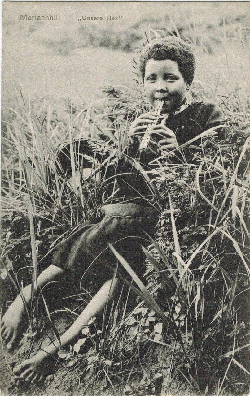 1910. Мальчик с бамбуковой флейты, Южная Африка