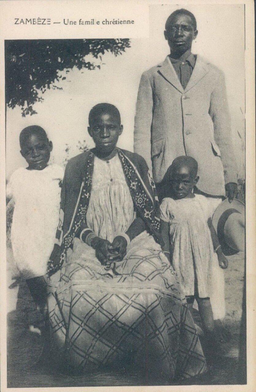 1910-е. Замбези Портрет христианской семьи