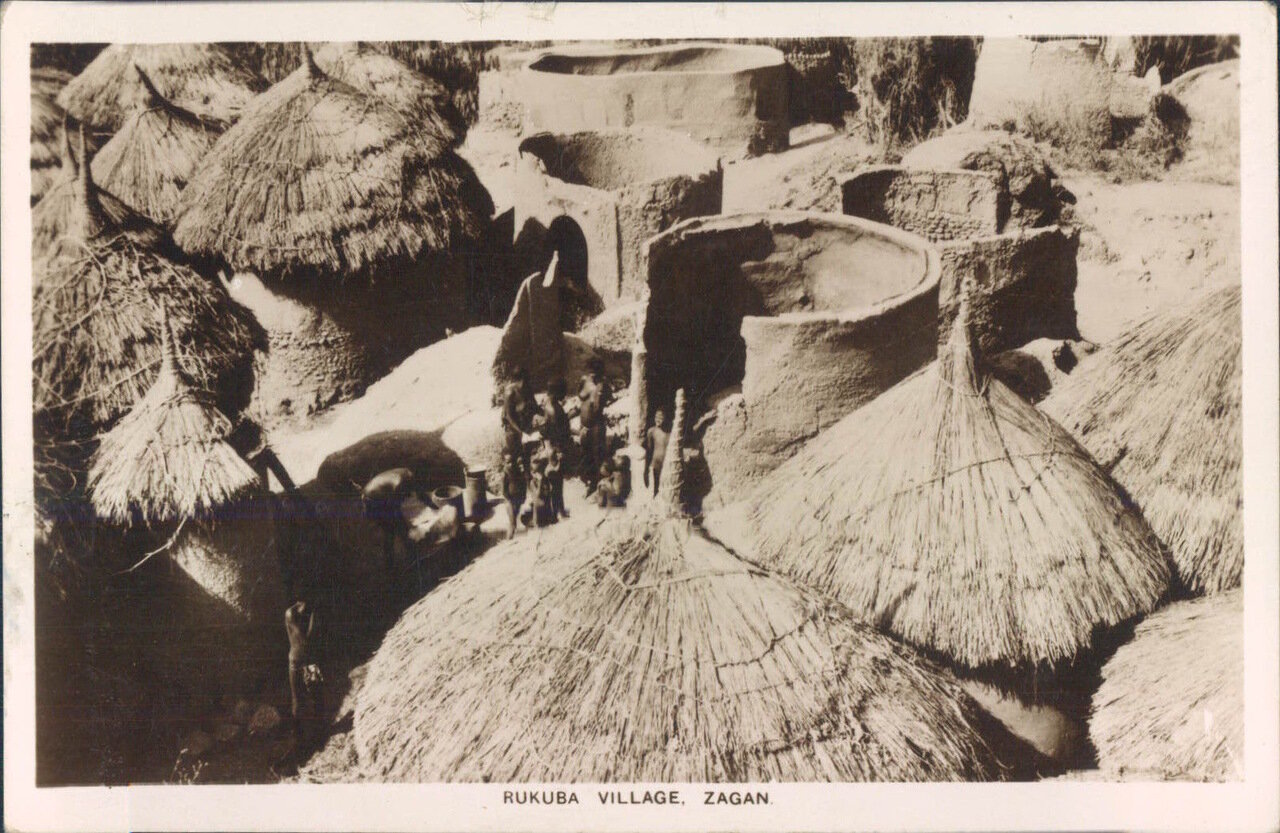 1940. Нигерия.Деревня племени Ракуба