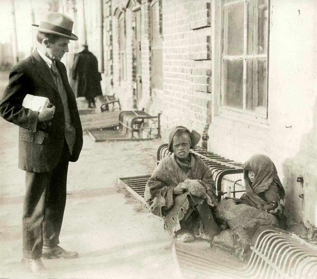 1924. Беспризорники на улицах Казани