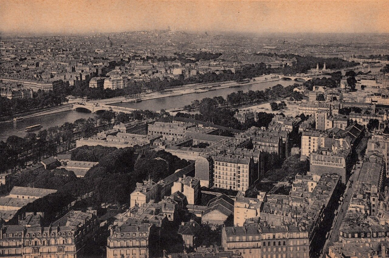1910-е. Вид Елисейских полей с Эйфелевой башни