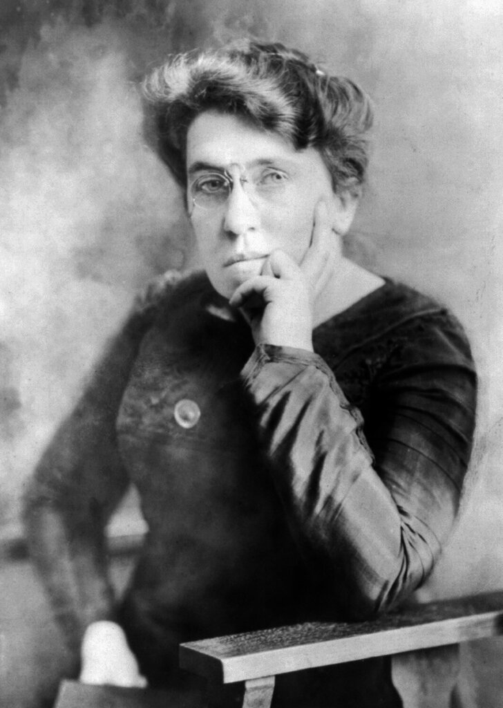 Emma Goldman. Amazing anarchist, sex radical, feminist, supporter of women's contraception. In short; amazing human being.jpg
