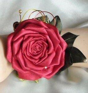 МК. Роза в технике канзаши 0_d5dab_8ea3567b_M