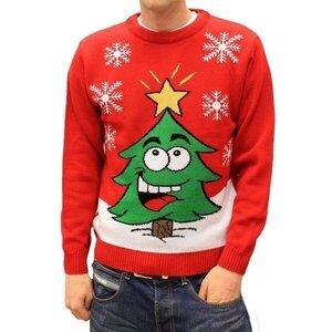 Веселые новогодние свитера с картинками спицами