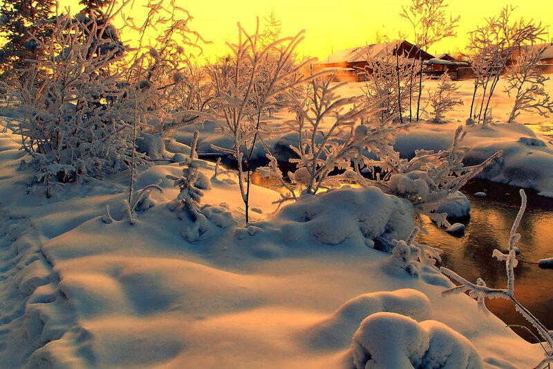 краски января...