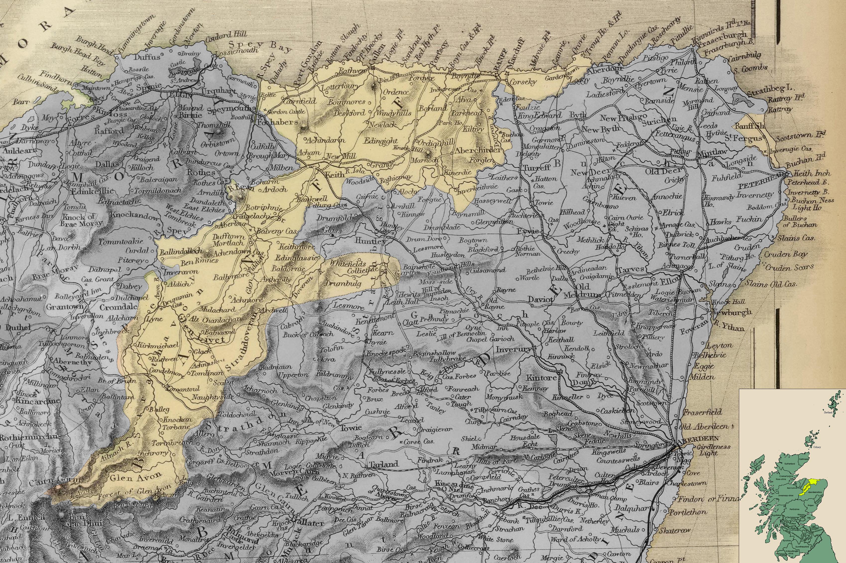 Карта Банффшира