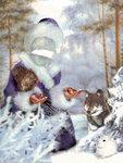 Снегурочка - новогодний шаблон костюма для девочки, psd
