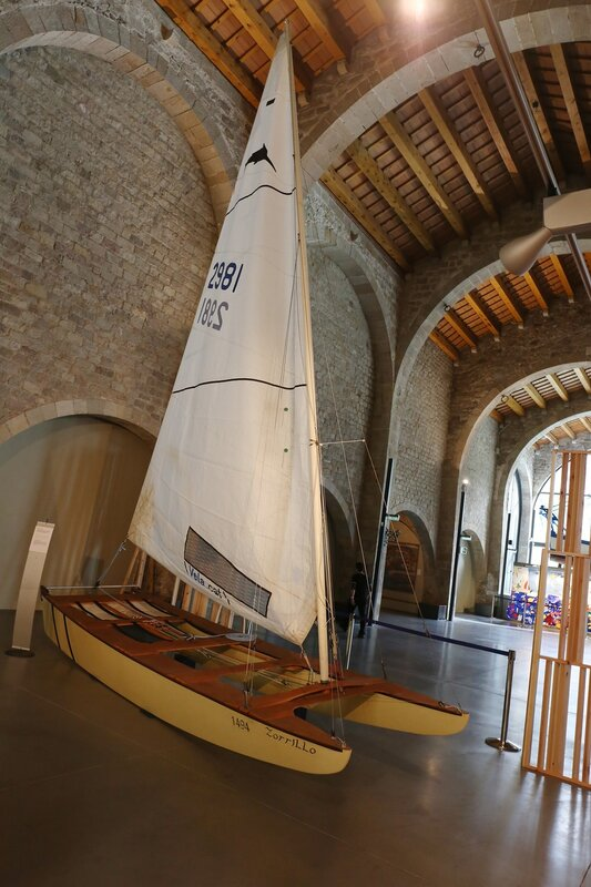 The Maritime Museum of Barcelona. catamaran