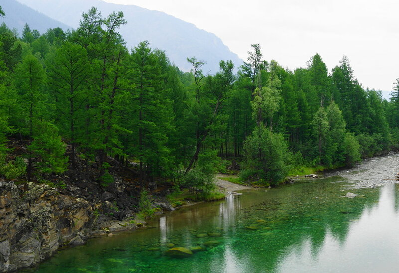 Таежная река.