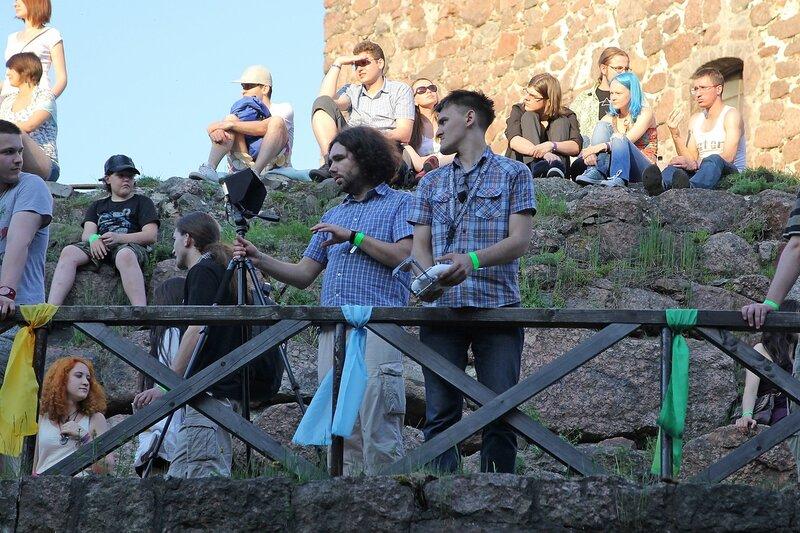 команда квадрокоптера на фестивале «Майское дерево 2014»