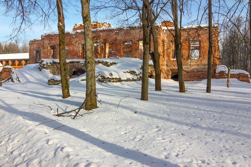 Руины главного дома усадьбы, усадьба Ольгово