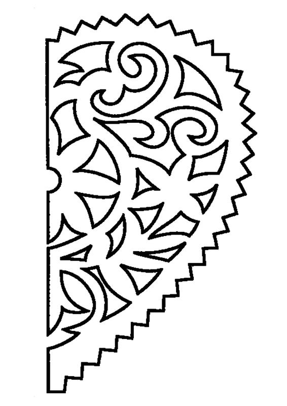 Как красиво вырезать открытки с узорами