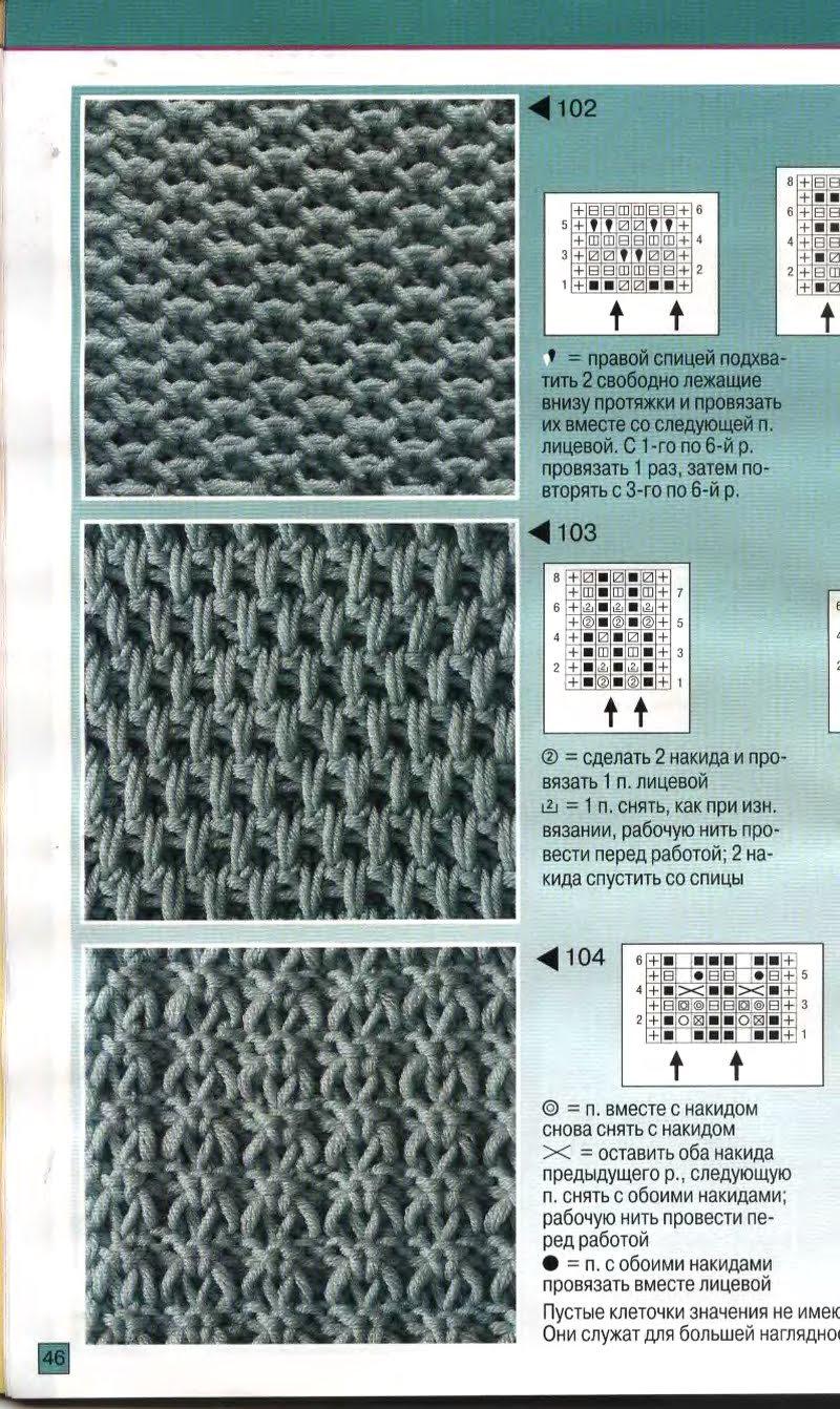 Вязание спицами узор для