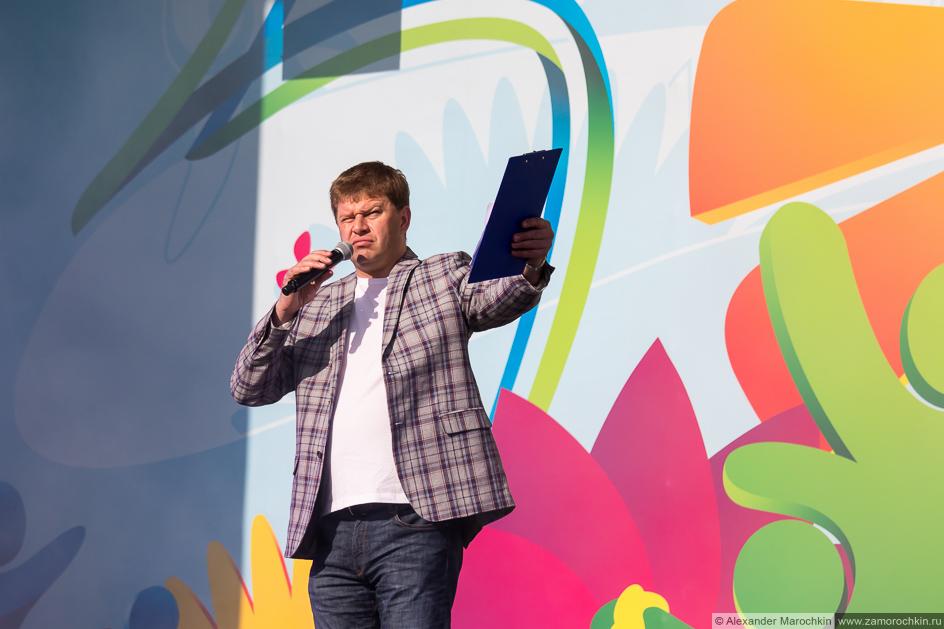 Ведущий фестиваля FIFA Fan Fest в Саранске Дмитрий Губерниев
