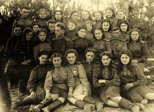 Зенитчицы 254 артполка РККА в 1945 году