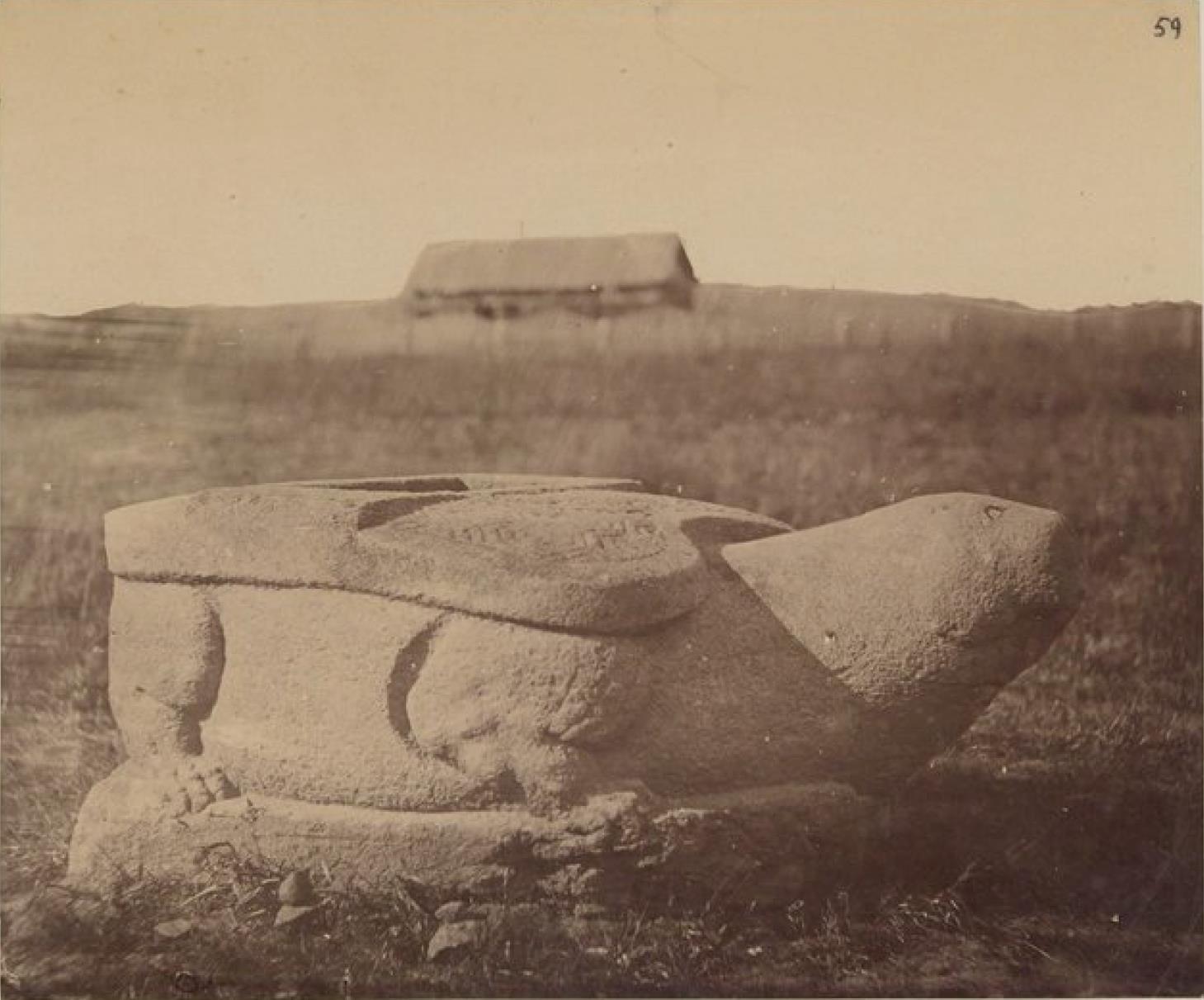 Камень, найденный под Никольском, древняя китайская крепость Уссури на российской границе