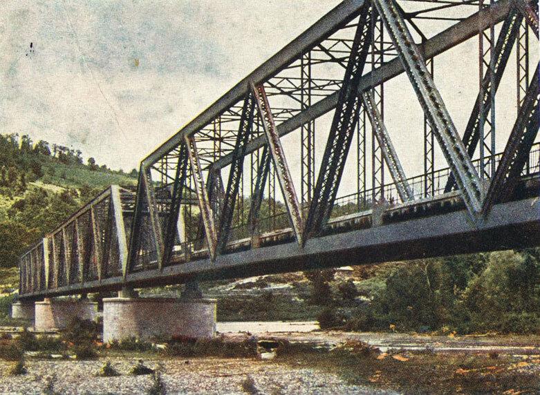 Адлер. Мост через Мзымту близ Молдованки