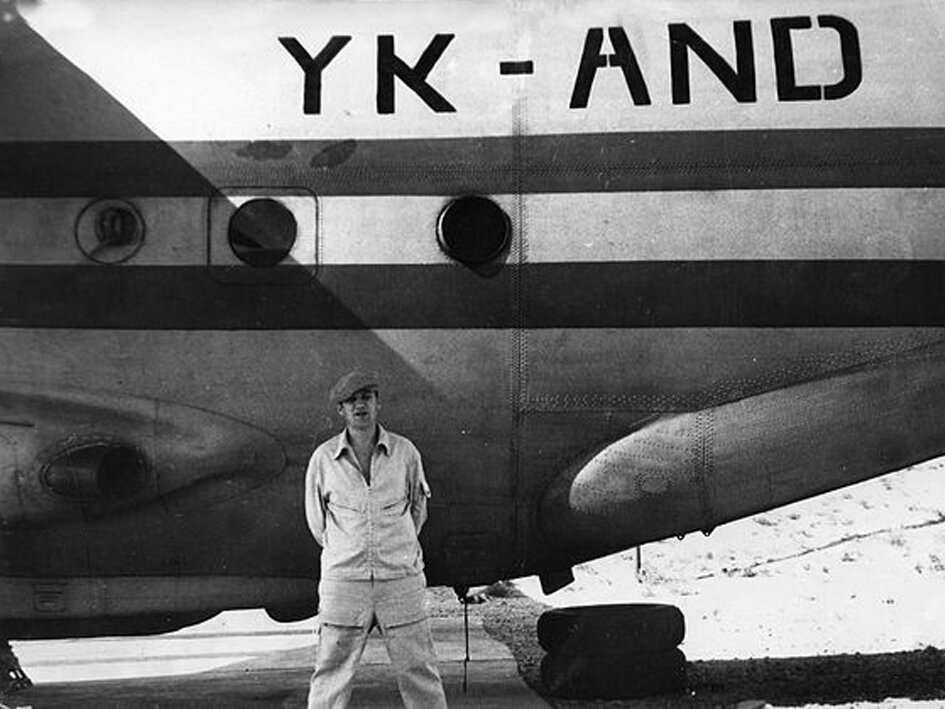 1981. Сирия, Тифор. Фещенко возле своего родного корабля