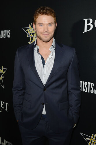 WEST HOLLYWOOD, CA - FEBRUARY 27: Actor Kellan Lutz attends the 7th Annual Hollywood Domino and Bovet 1822 Gala benefiting artists for peace and justice at Sunset Tower on February 27, 2014 in West Hollywood, California. (Photo by Jason Merritt/Getty Im