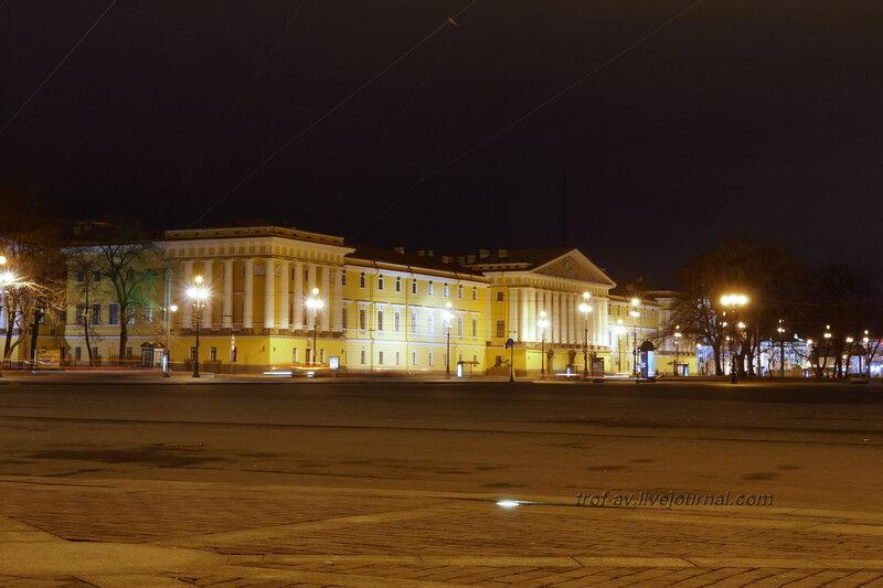 Адмиралтейство (1727-1737, 1806-1823гг), ночной зимний Питер