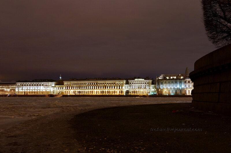Эрмитаж с набережной Биржевой площади, Санкт-Петербург