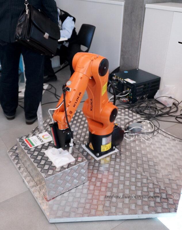 Роботизированный комплекс третьего поколения по обработке металлов, Конференция и выставка Skolkovo Robotics 2014