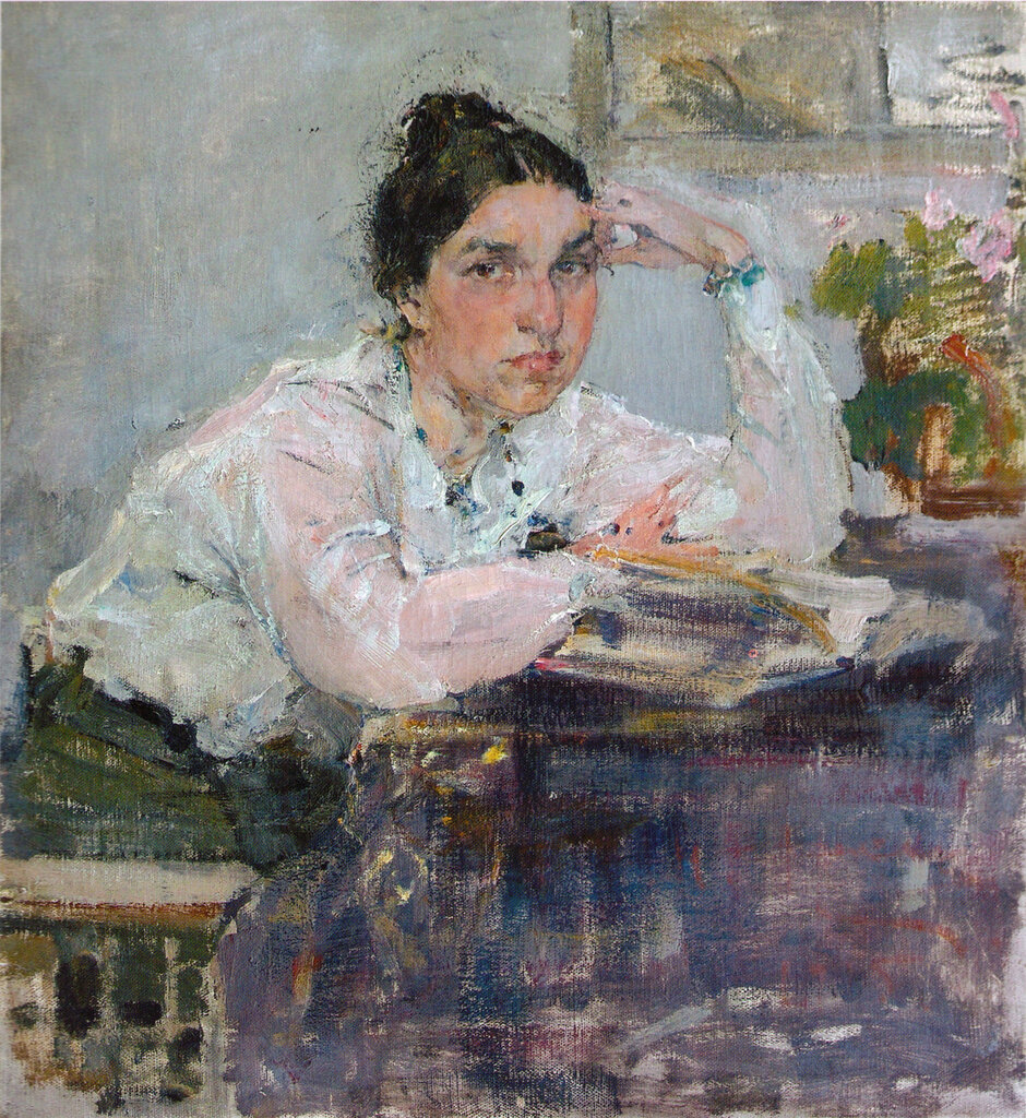 Портрет Н.М.Сапожниковой. Этюд (1915).jpg