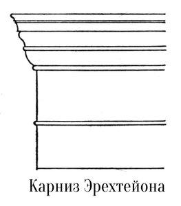 Карниз Эрехтейона афинского акрополя