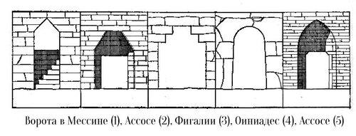 Чертежи входов греческих царских захоронений архаического периода